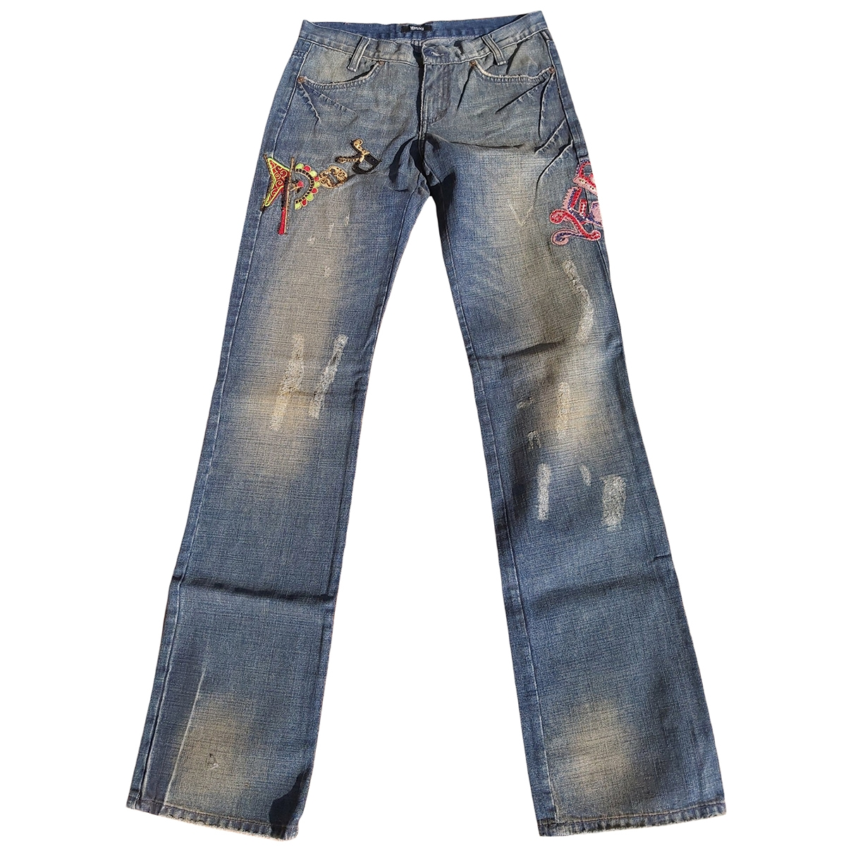 Versace Jeans \N Blue Cotton Jeans for Women 26 US