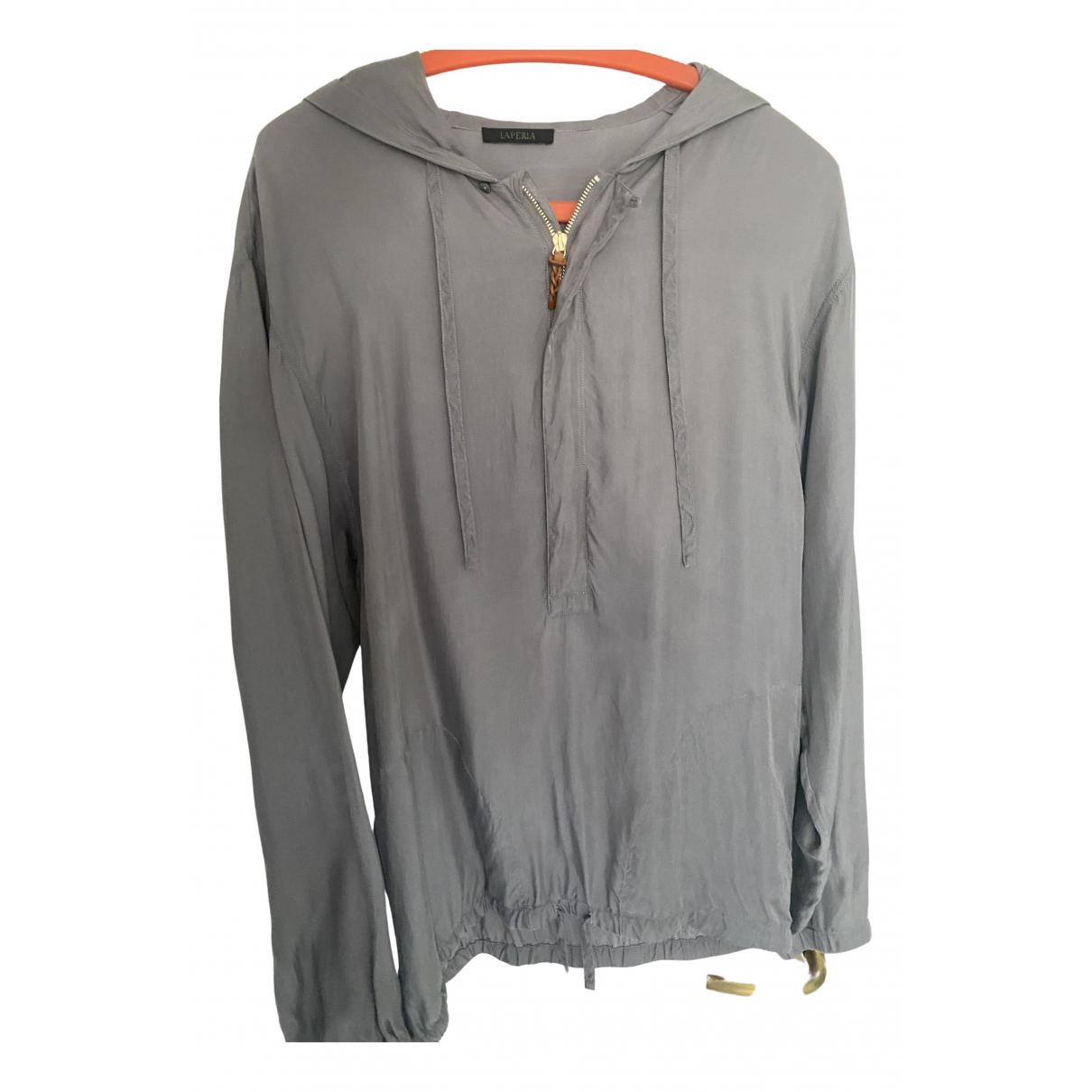 La Perla \N Pullover.Westen.Sweatshirts  in  Grau Baumwolle