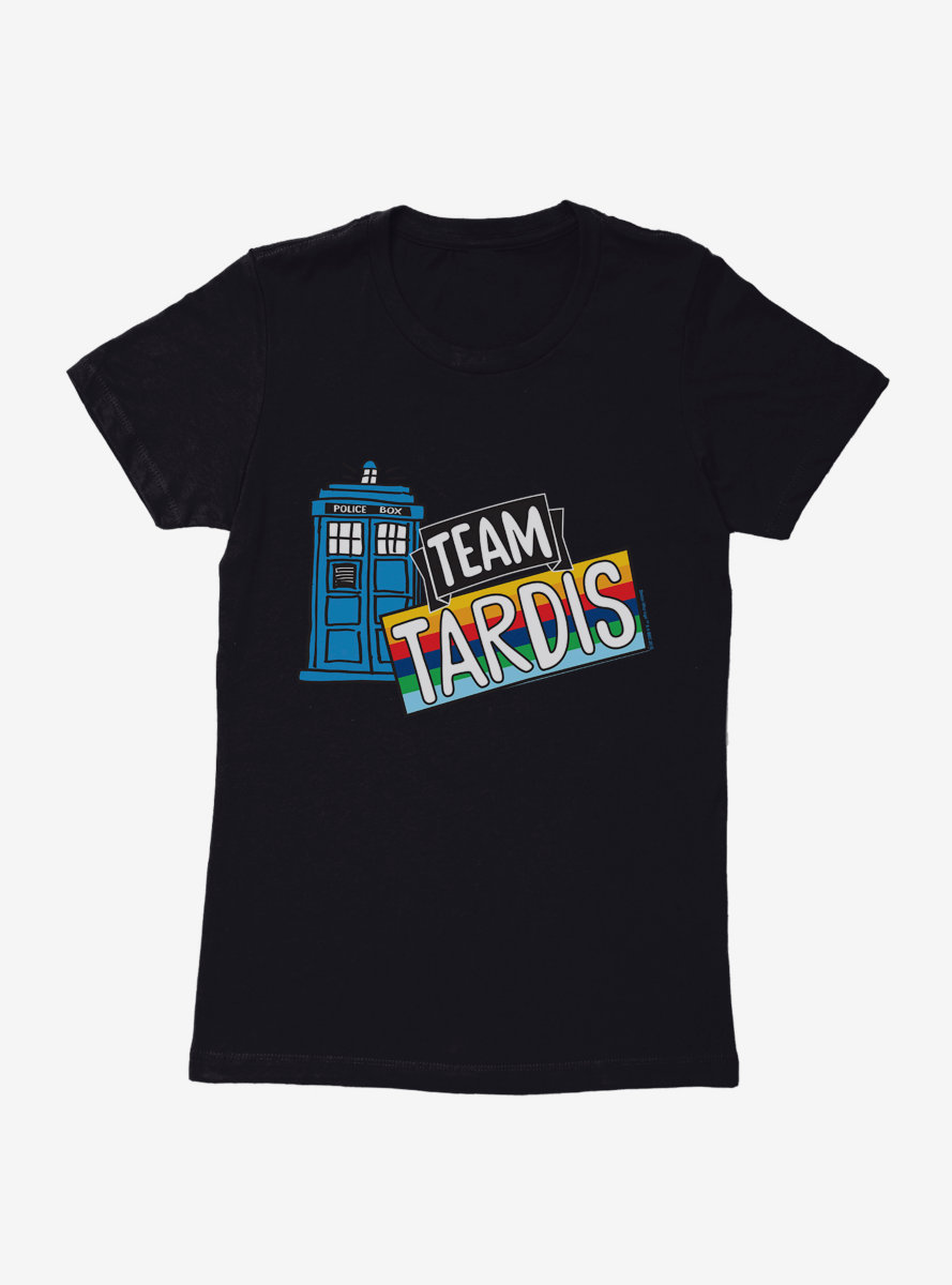 Doctor Who TARDIS Team Rainbow Banner Womens T-Shirt