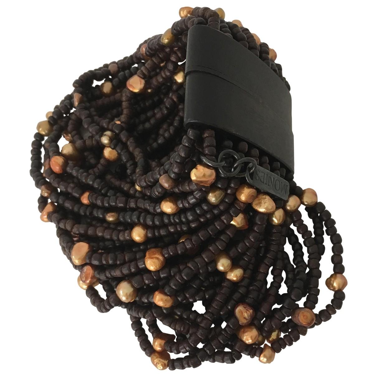 Monies \N Brown Pearls bracelet for Women \N