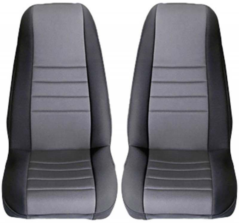 Rugged Ridge 13210.09 Seat Cover Kit, Front, Neoprene, Gray; 97-02 Jeep Wrangler TJ Jeep Wrangler 1997-2002