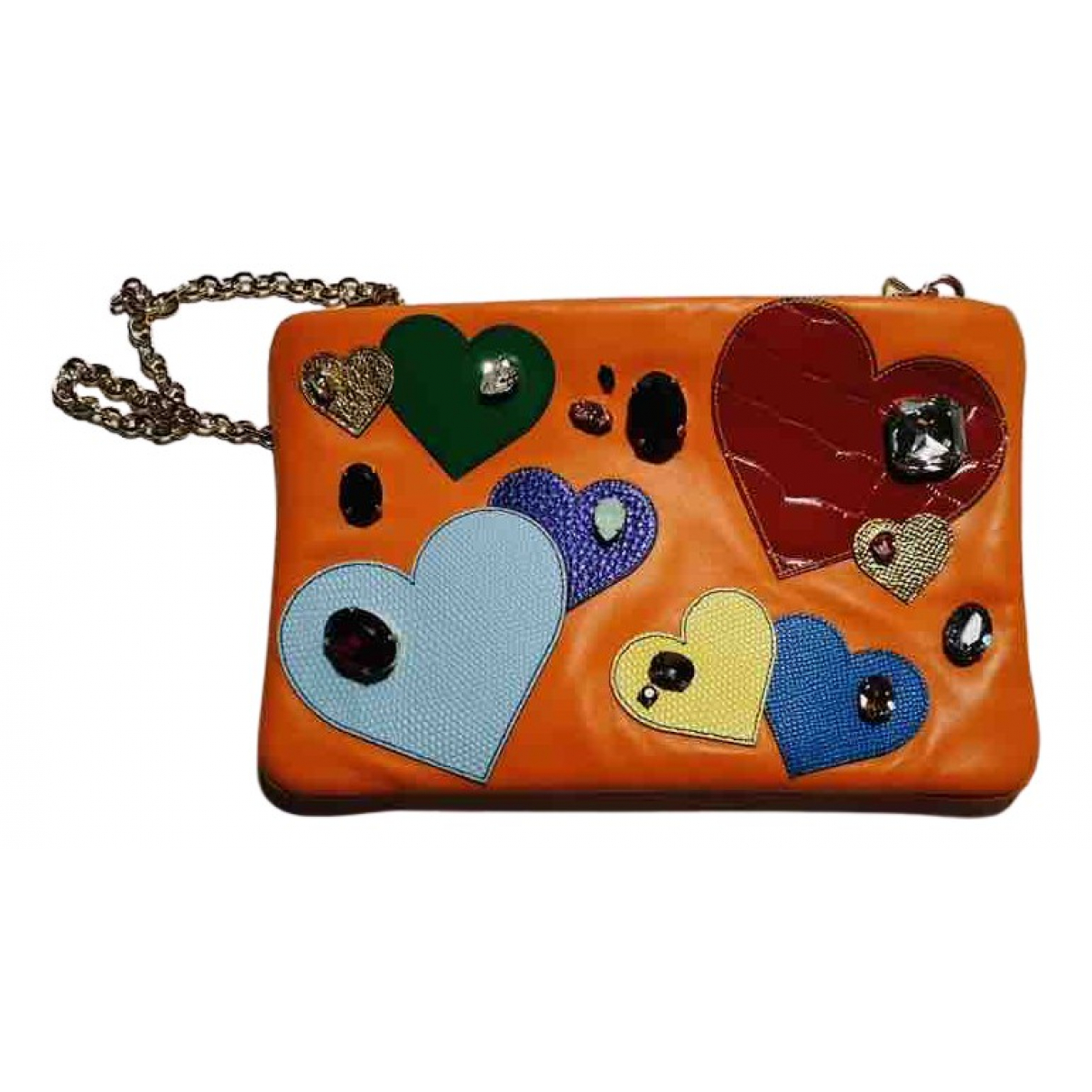 Dolce & Gabbana \N Clutch in  Orange Leder