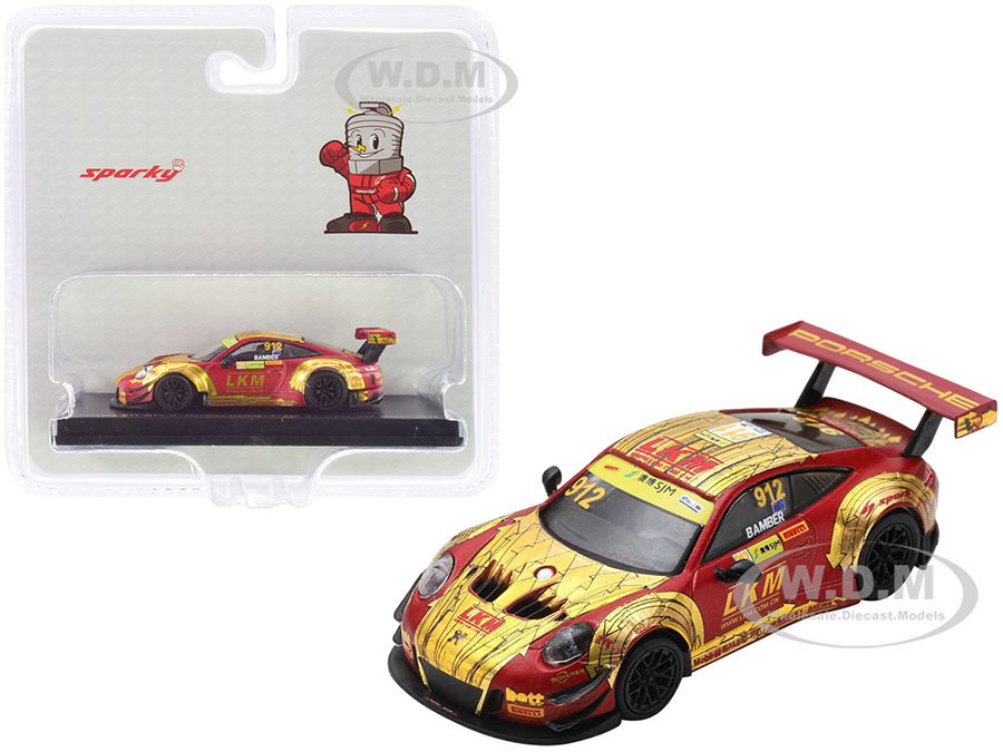 Porsche 911 GT3 R 912 Earl Bamber Manthey-Racing 4th FIA GT World Cup Macau (2018) 1/64 Diecast Model Car by Sparky