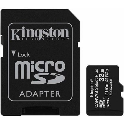 Kingston micSDHC Canvas Select Plus Carte MicroSD + adaptateur de carte SD (SDCS2) - 32GB