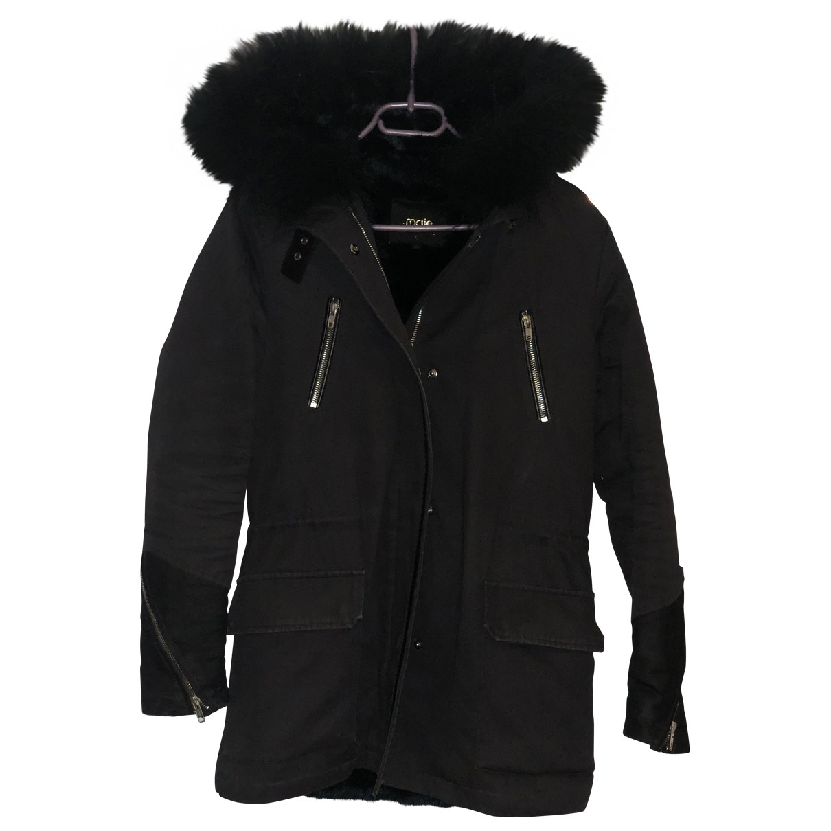 Maje \N Anthracite Cotton coat for Women 1 US