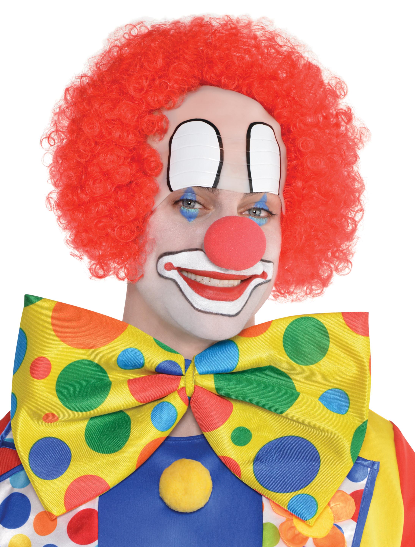 Kostuemzubehor Peruecke Clown Halbglatze rot einfach
