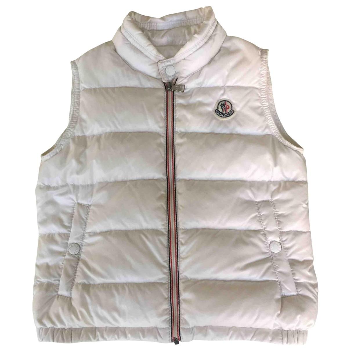 Moncler - Blousons.Manteaux Sleeveless pour enfant - blanc