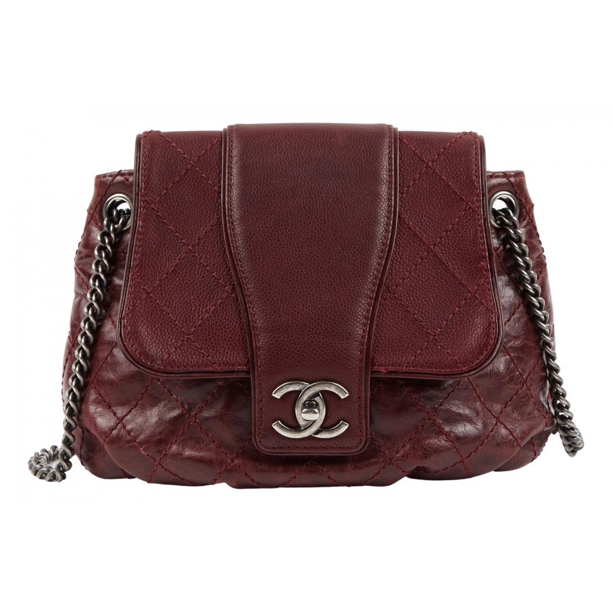 Chanel \N Burgundy Leather handbag for Women \N