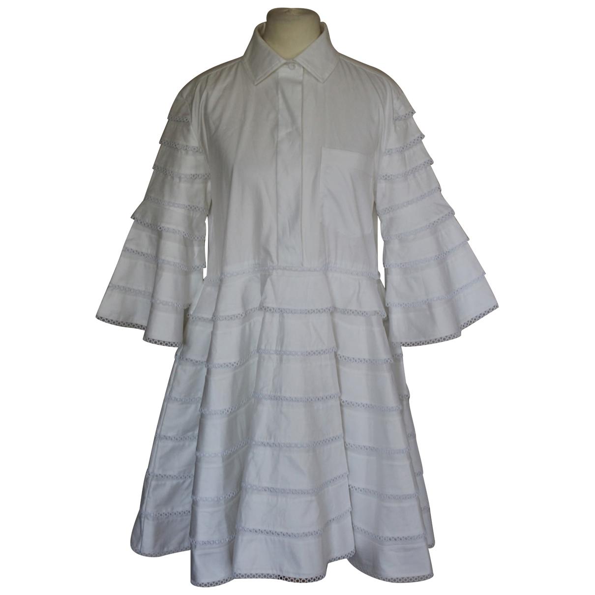 Carven \N White Cotton dress for Women 40 FR