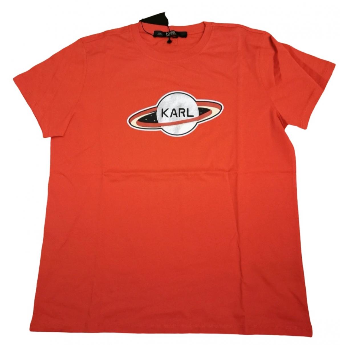 Karl Lagerfeld - Top   pour femme en coton - rouge