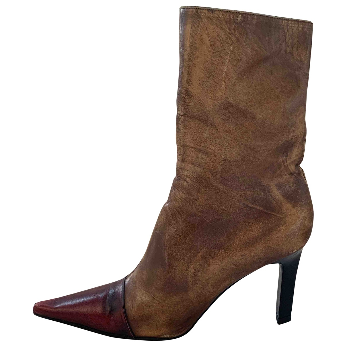 Luciano Padovan \N Camel Leather Boots for Women 41 IT
