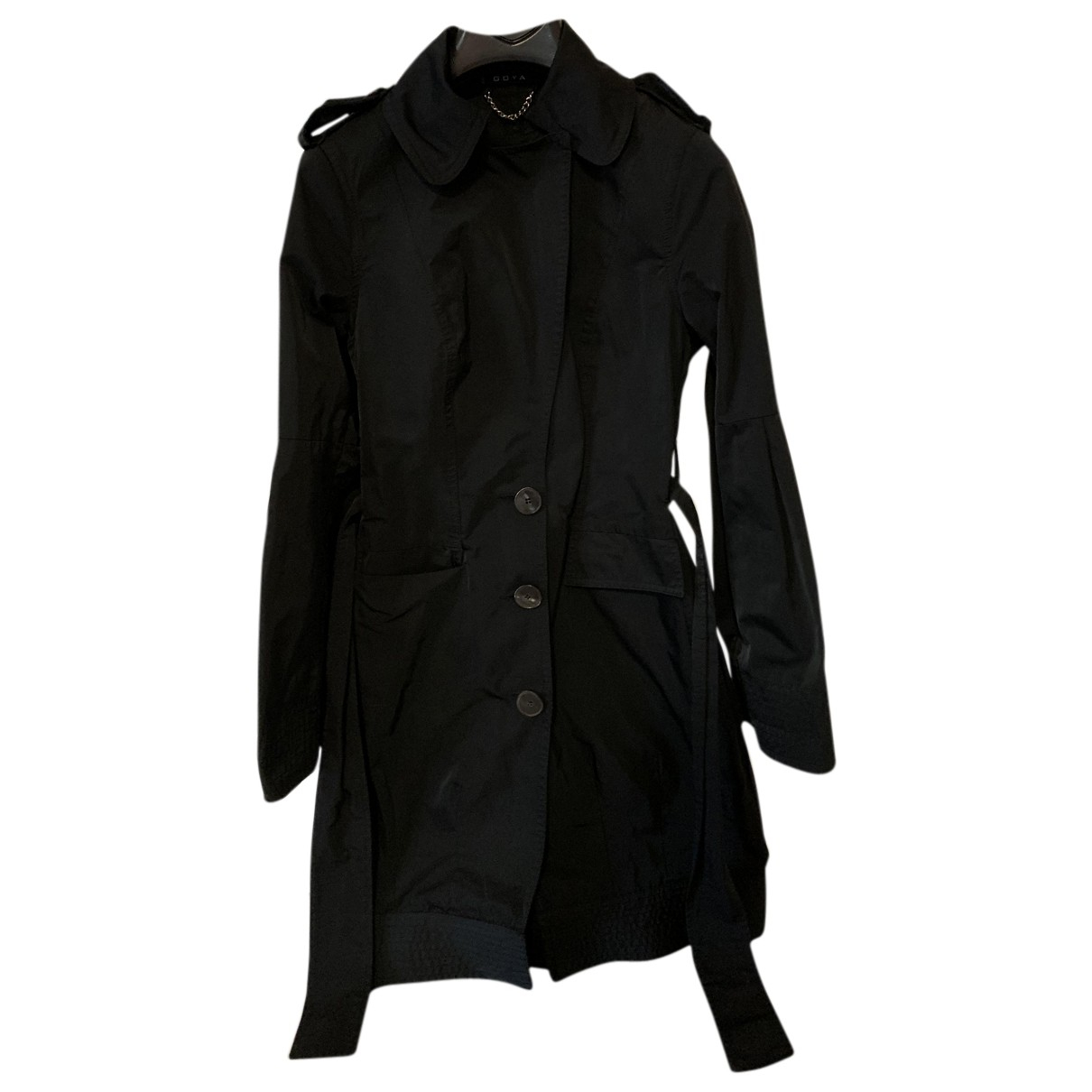 Non Signé / Unsigned N Black Trench coat for Women 40 IT