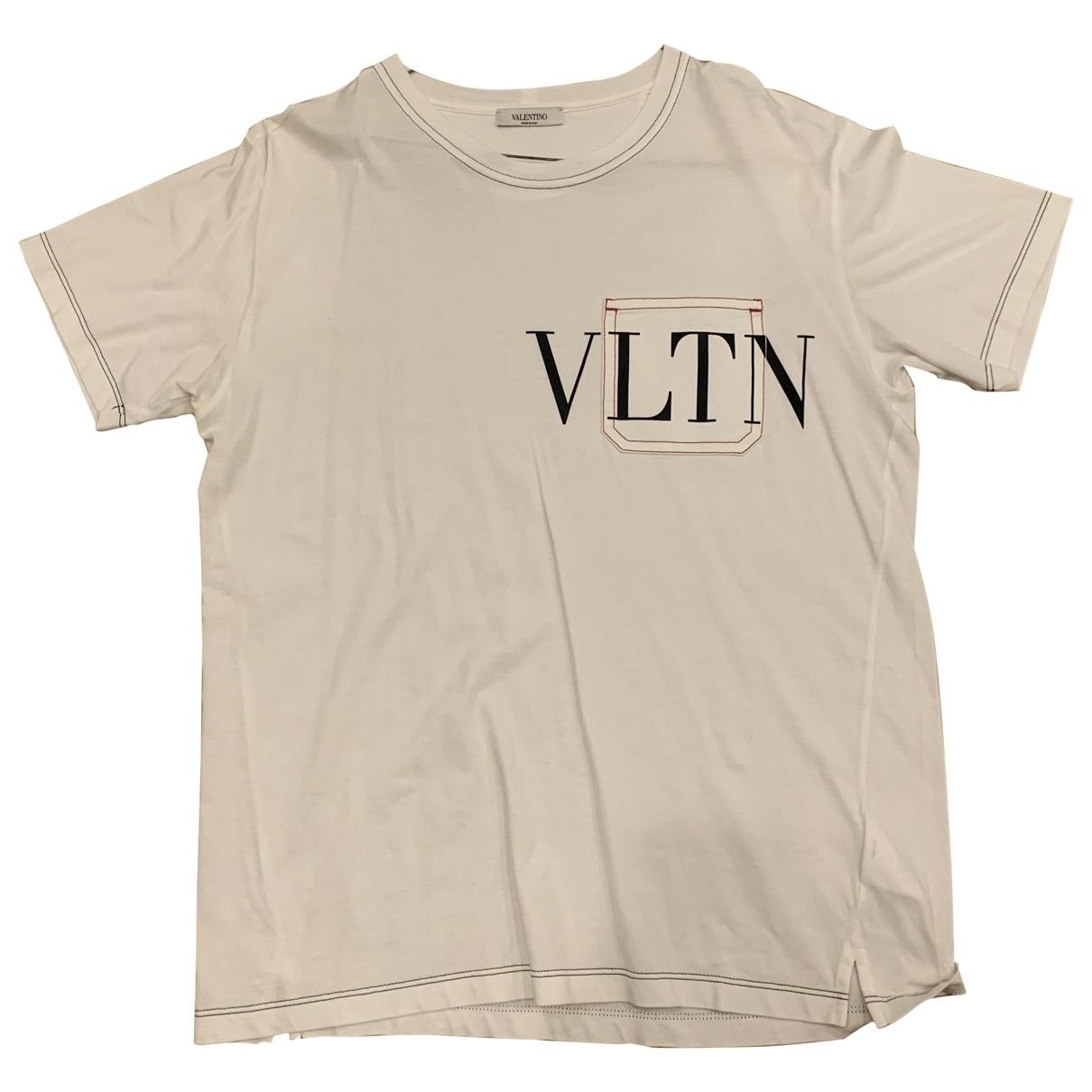 Valentino Garavani \N White Cotton T-shirts for Men M International