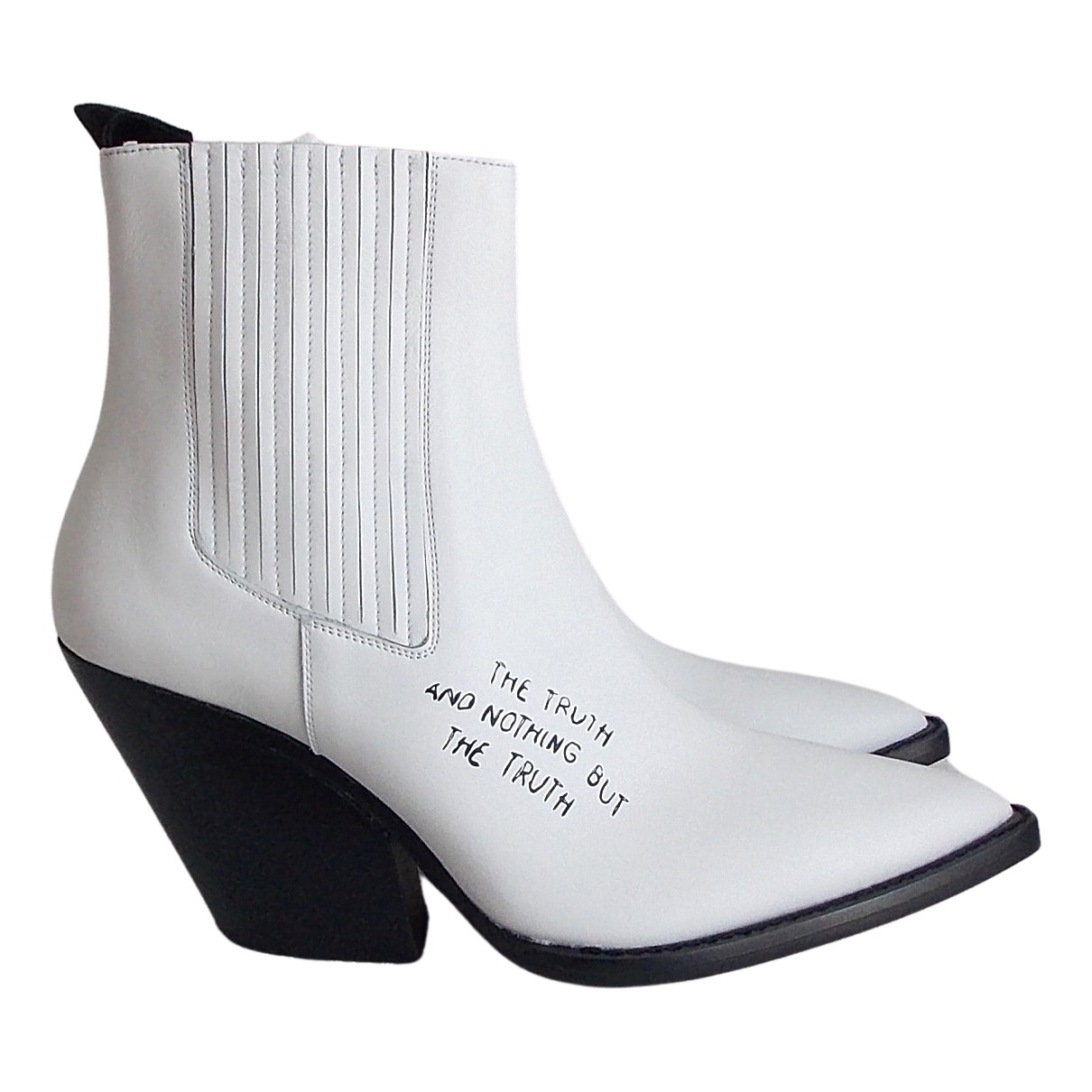 Iro \N White Leather Ankle boots for Women 40 IT
