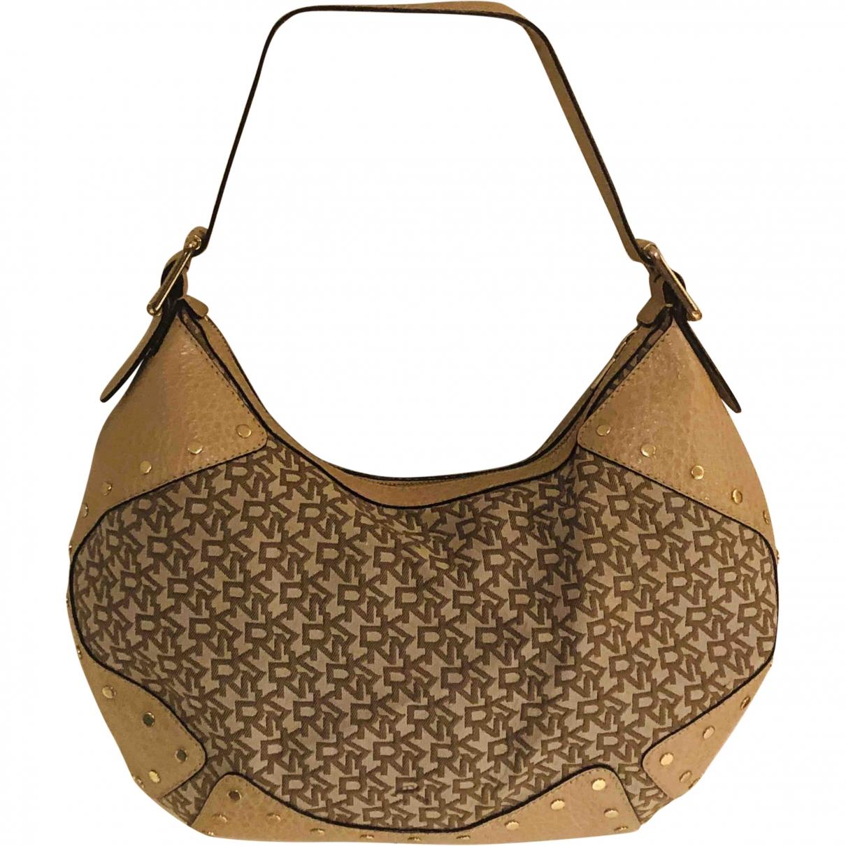 Donna Karan \N Handtasche in  Beige Leinen