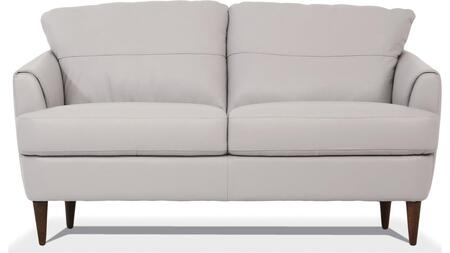 Helena Collection 54576 Loveseat  Loose Back & Tight Seat Cushions  Webbing Seat  Wood Inner Frame  Flared Armrest  in Pearl Gray