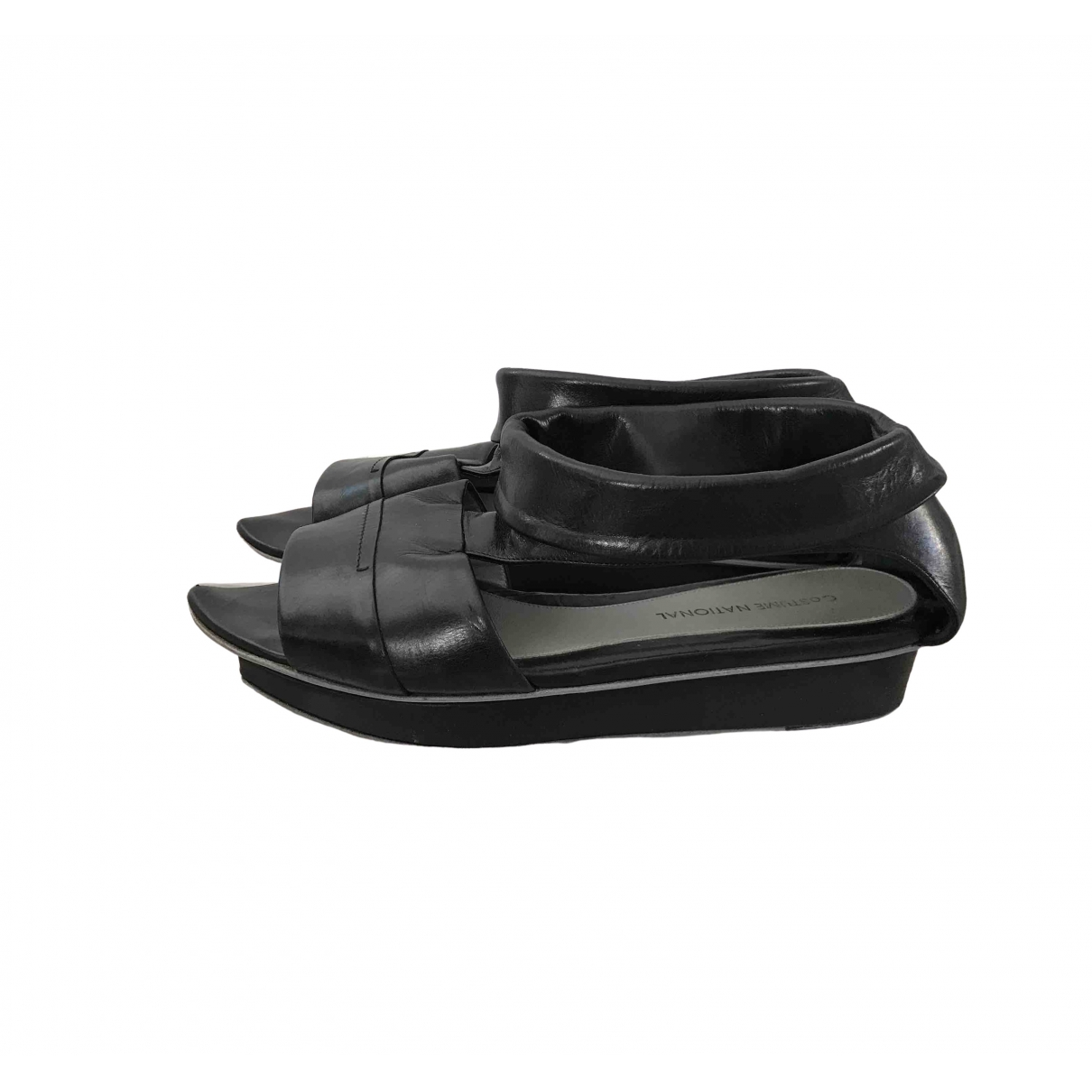 Costume National \N Black Leather Sandals for Women 35 EU