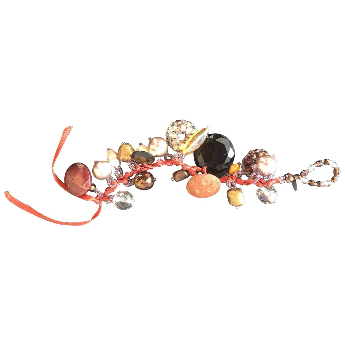 - Bracelet   pour femme en soie - marron
