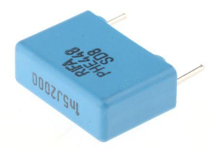 KEMET 1.5nF Polypropylene Capacitor PP 2 kV dc, 700 V ac ±5% Tolerance Through Hole PHE448 Series (10)