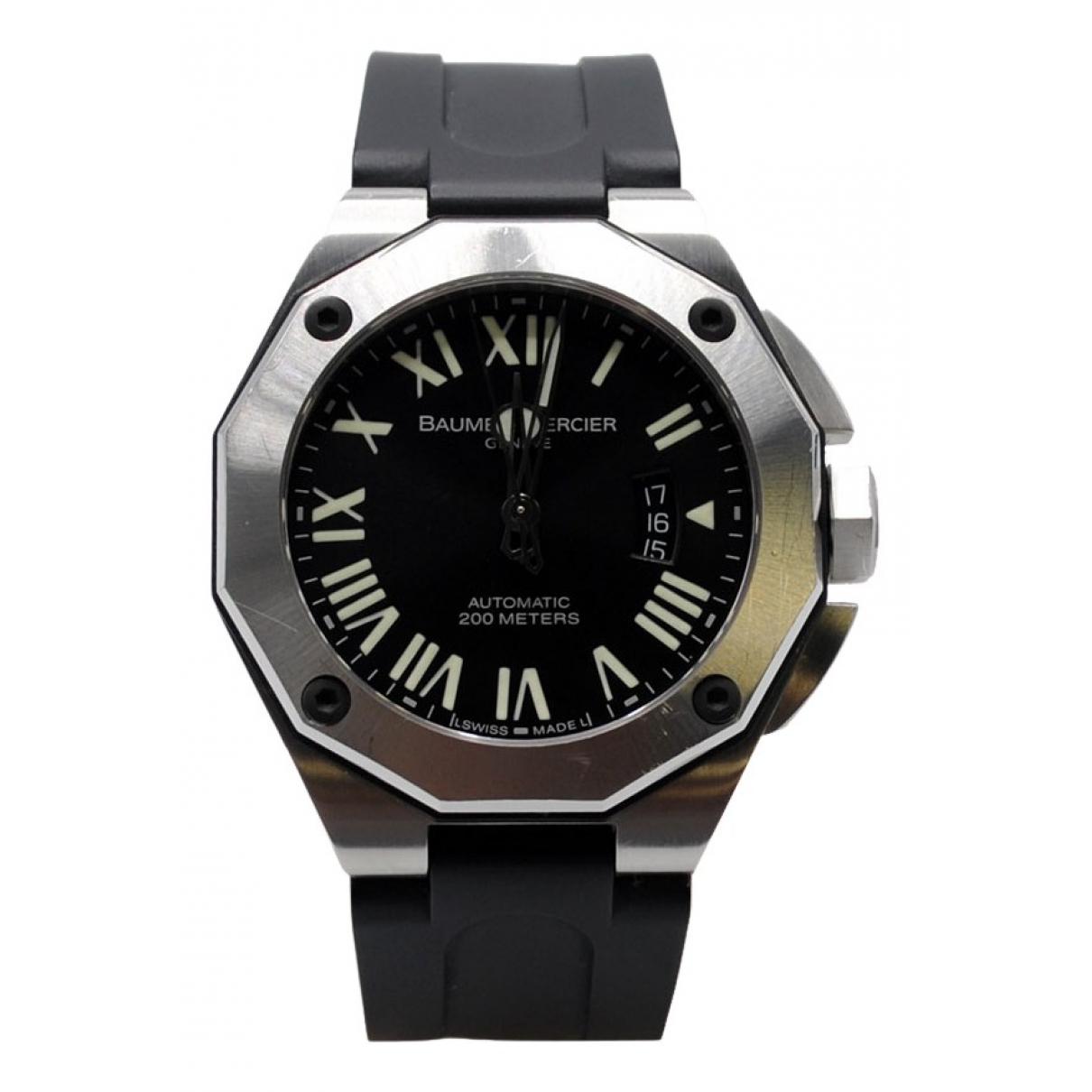 Baume Et Mercier Riviera Uhr in  Schwarz Stahl
