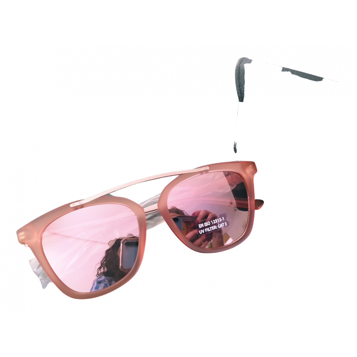 Guess \N Pink Metal Sunglasses for Women \N