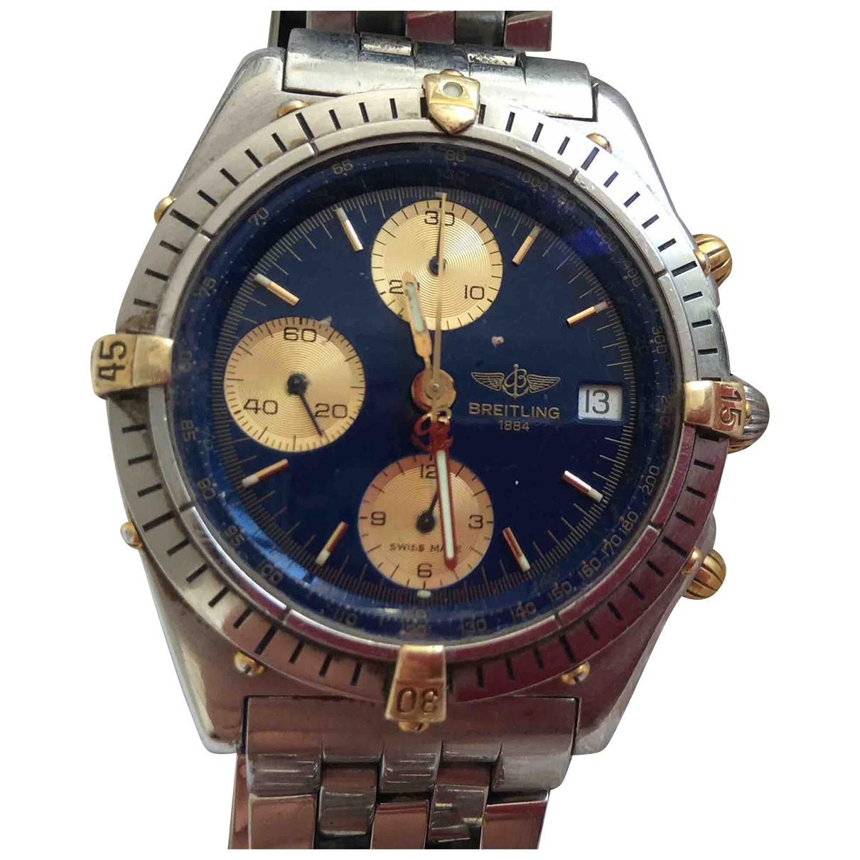 Breitling Chronomat Uhr in  Blau Gold und Stahl
