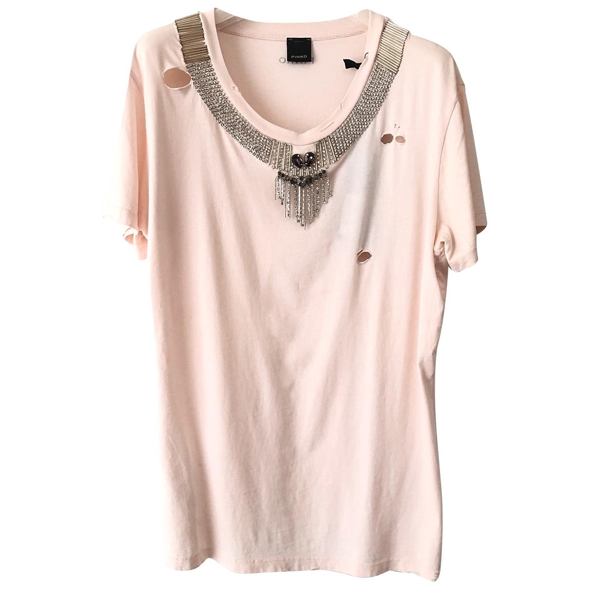 Pinko - Top   pour femme en coton - rose