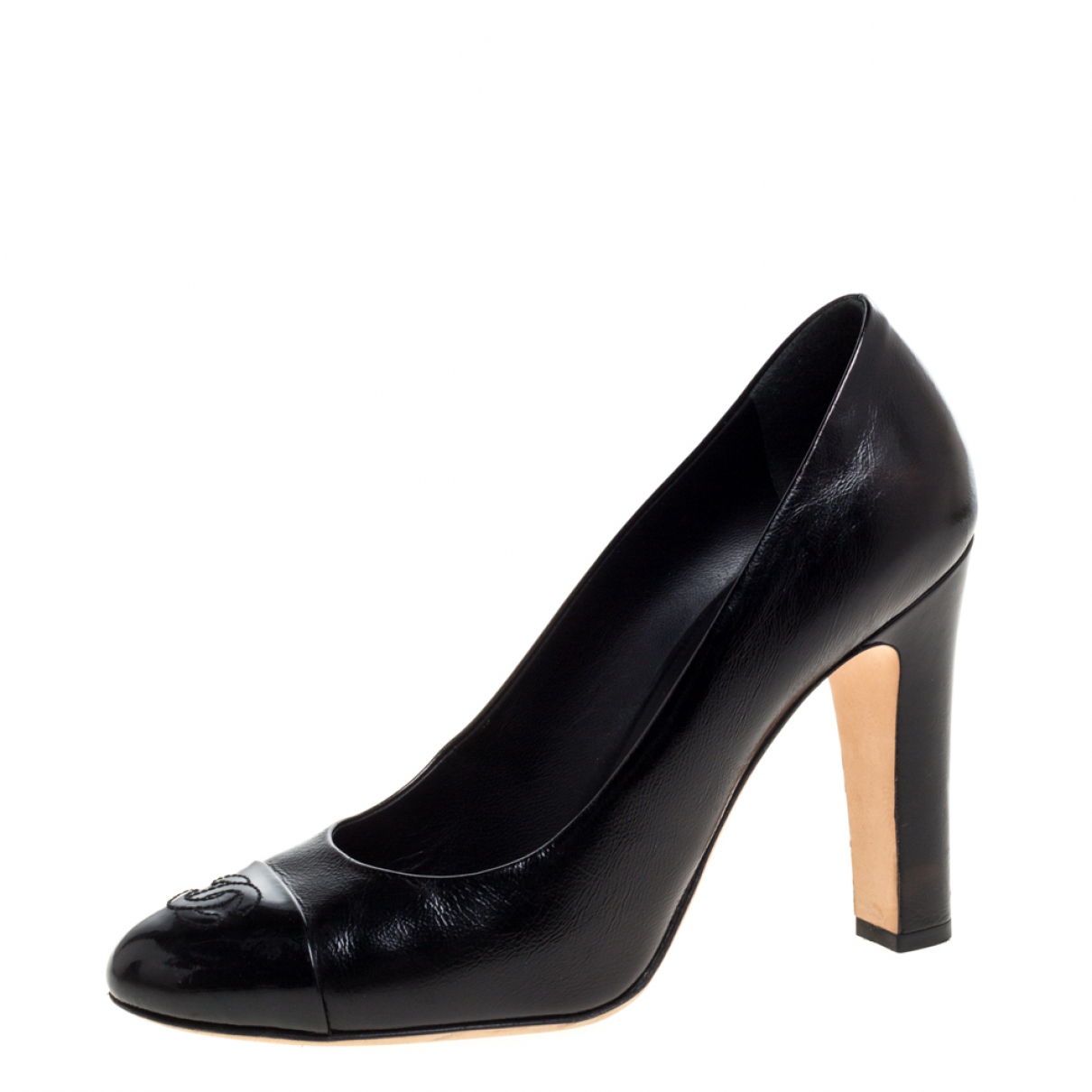 Chanel N Black Leather Sandals for Women 8 US