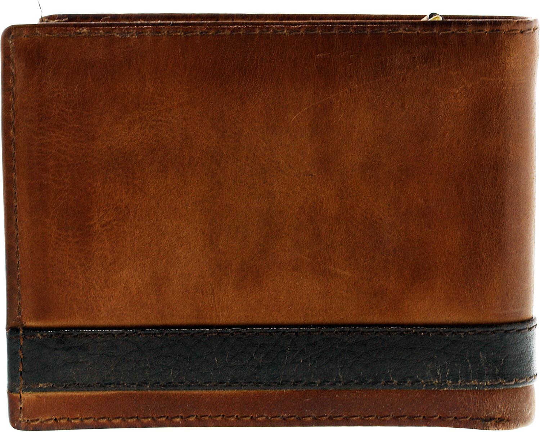 Fossil Men's Quinn L-Zip Bifold Leather Wallet - Brown