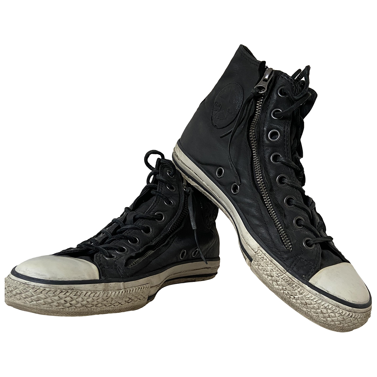 Converse \N Black Leather Trainers for Men 41.5 EU