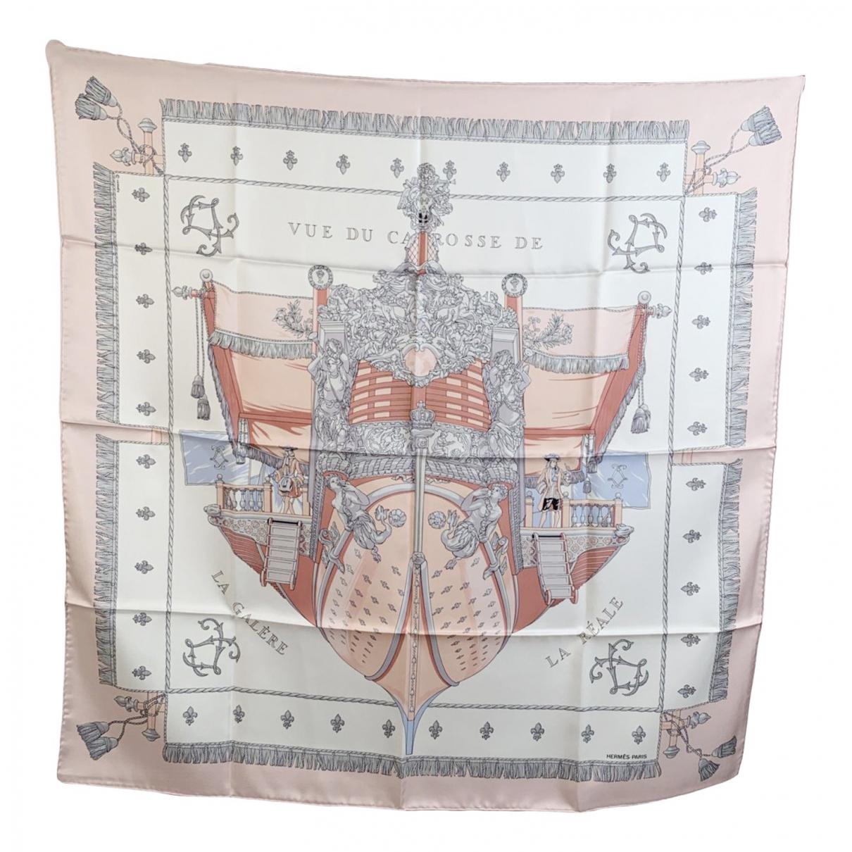 Hermes - Foulard   pour femme en soie - rose