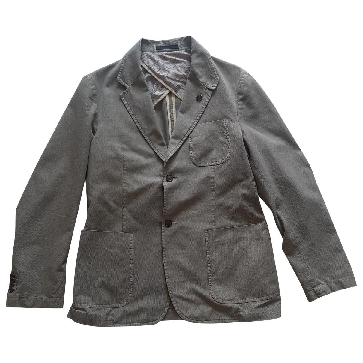 Trussardi Jeans \N Khaki Cotton jacket  for Men 50 IT