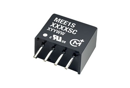 Murata Power Solutions MEE1 1W Isolated DC-DC Converter Through Hole, Voltage in 4.5 → 5.5 V dc, Voltage out 12V