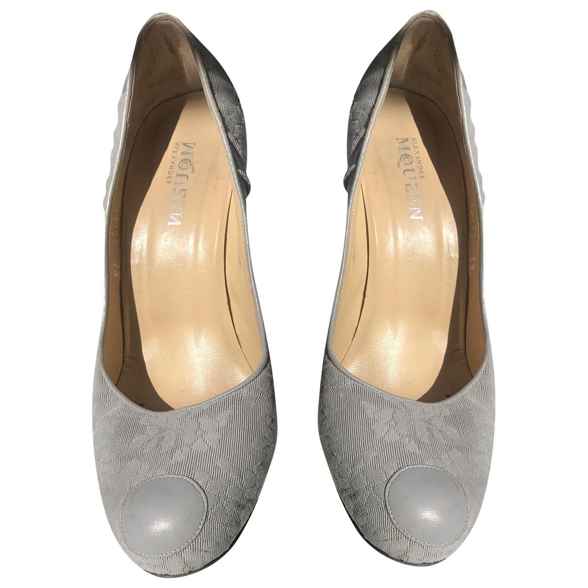 Alexander Mcqueen \N Blue Cloth Heels for Women 39 EU