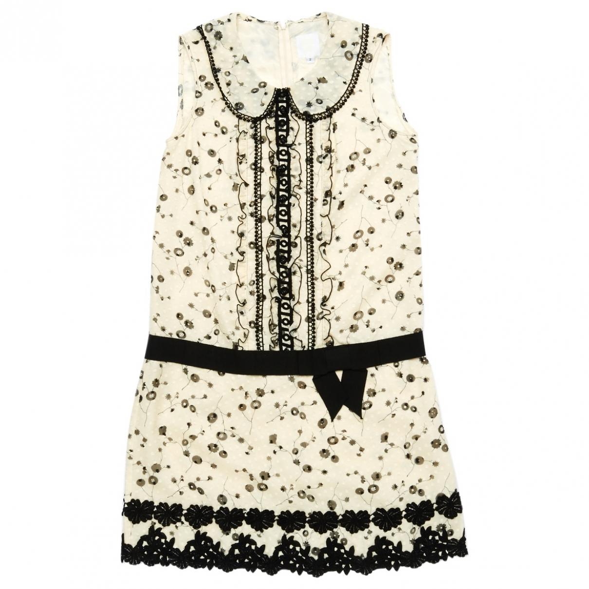 Anna Sui - Robe   pour femme en soie - ecru