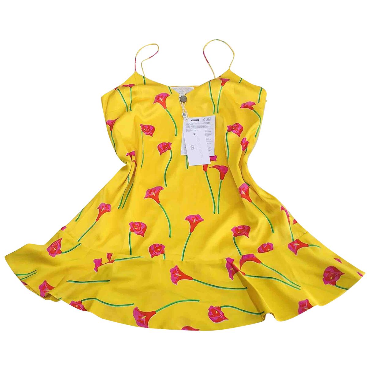 Caroline Constas \N Yellow Silk dress for Women S International