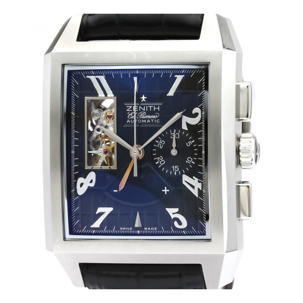 Zenith Port Royal  Uhr in  Schwarz Stahl