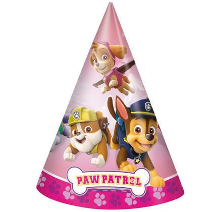 Paw Patrol Girl 8 Party Hats Pour la fête d'anniversaire