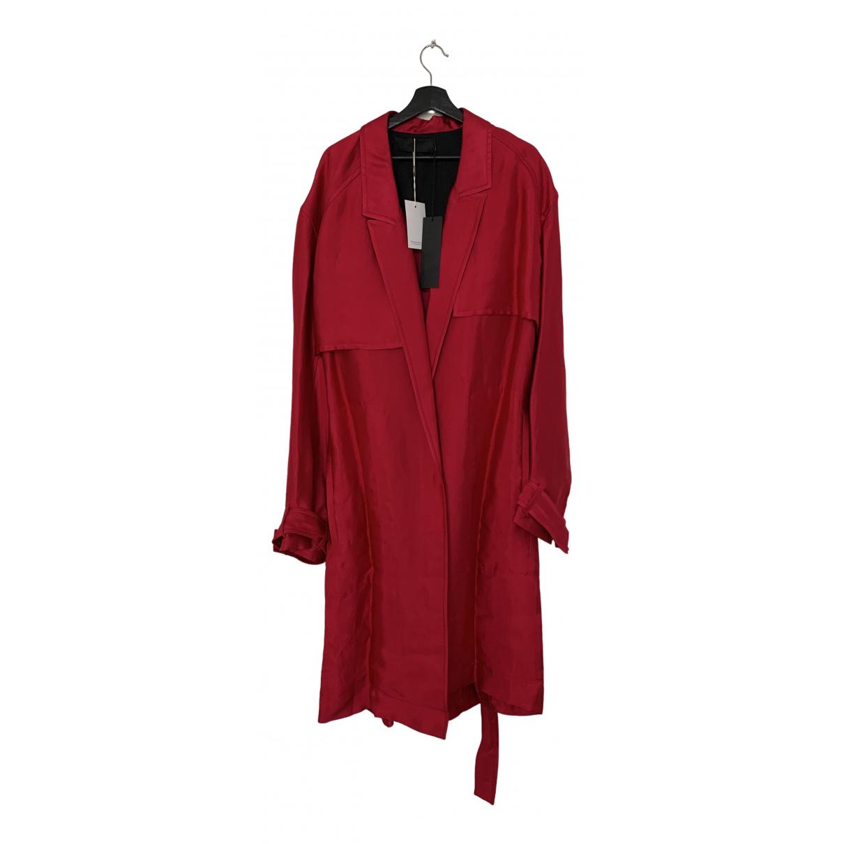 Haider Ackermann - Manteau   pour homme en toile - rouge