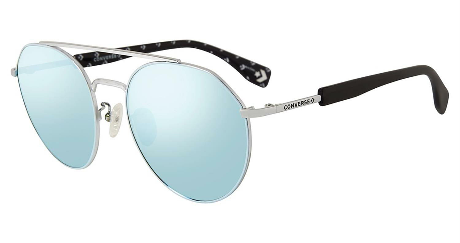 Converse SCO053568L5B Mirrored Round Sunglasses Blue/Silver