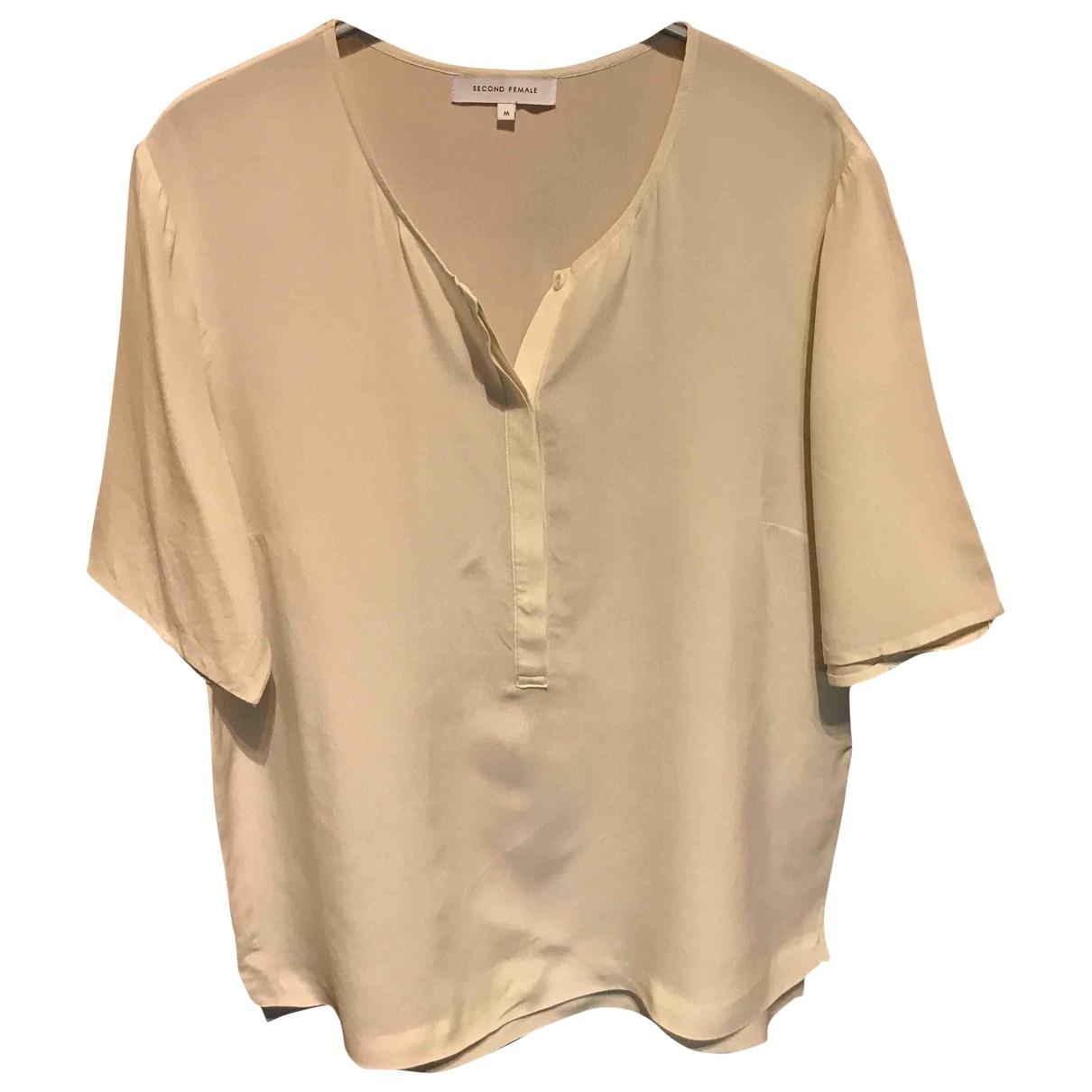 Second Female - Top   pour femme en soie - beige