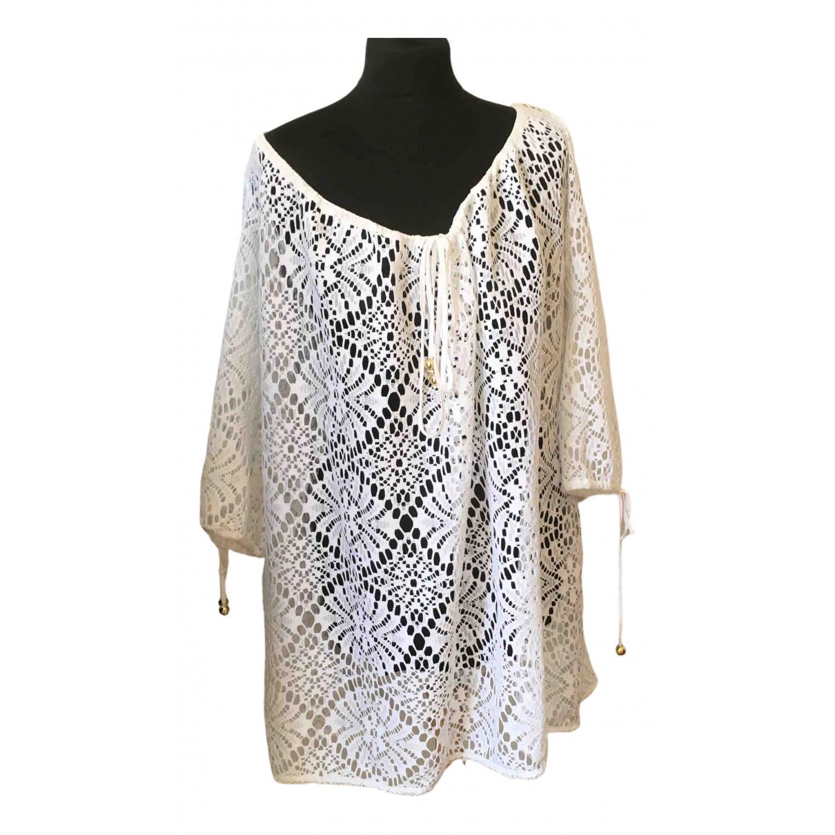 Milly \N Kleid in  Weiss Baumwolle - Elasthan