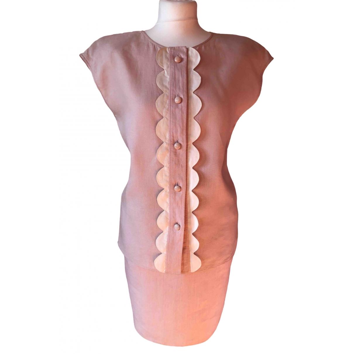 Valentino Garavani \N Pink Linen jumpsuit for Women 38 FR