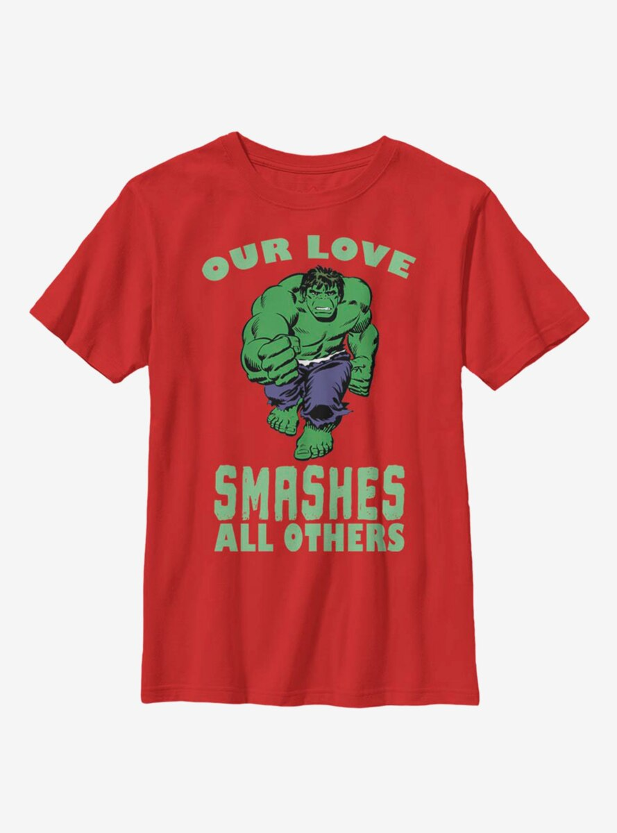 Marvel Hulk Smashing Love Youth T-Shirt