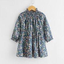 Vestidos para niña pequeña Volante fruncido Floral Bohemio
