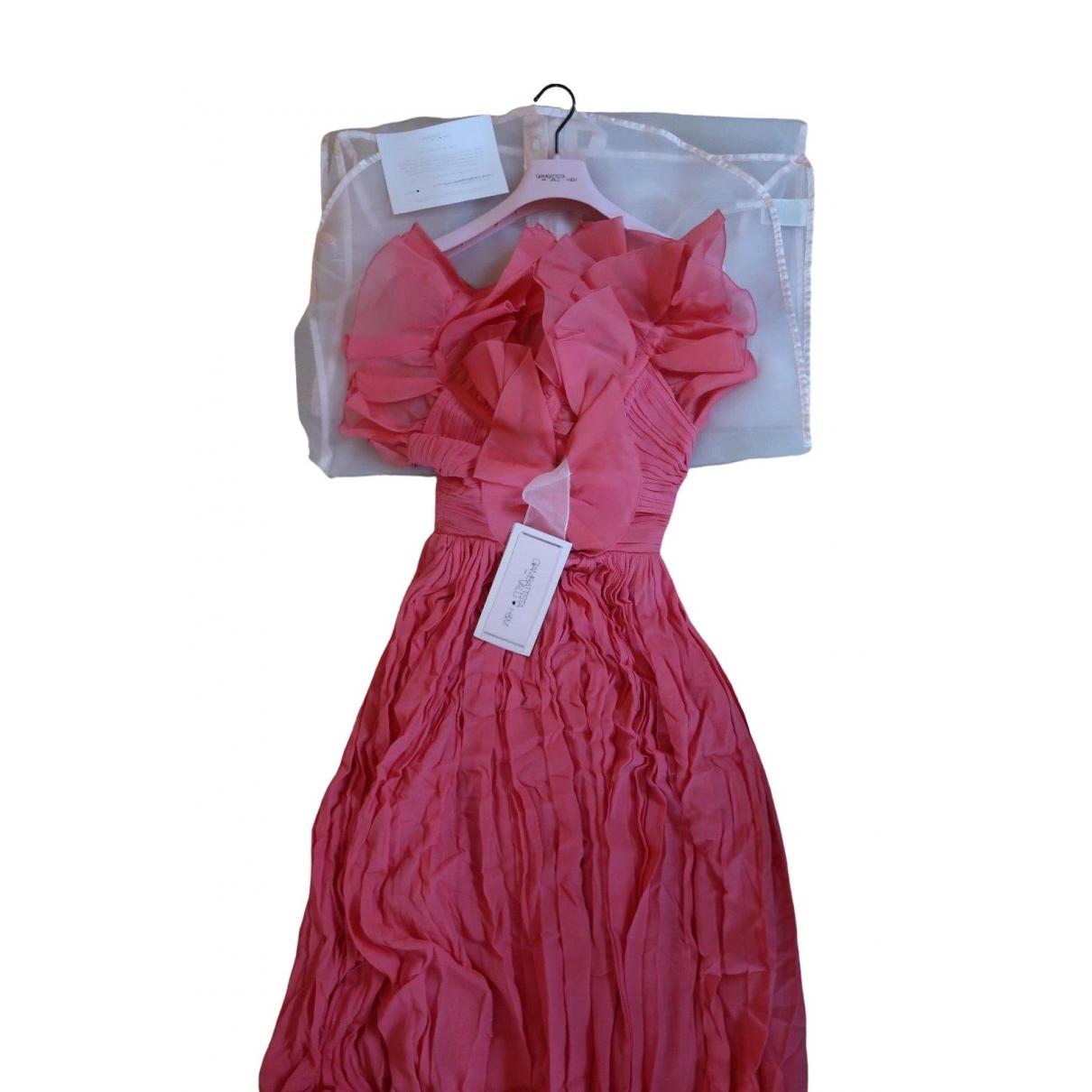 Giambattista Valli X H&m \N Kleid in  Rosa Seide