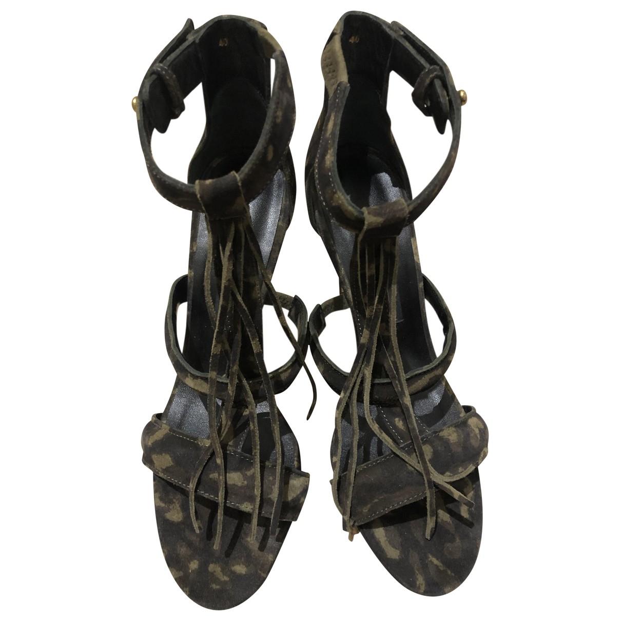 Jerome Dreyfuss \N Khaki Suede Sandals for Women 40 EU