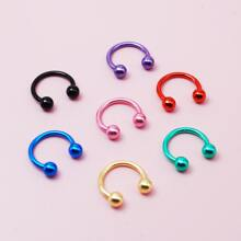 7pcs Round Ball Decor Nose Ring