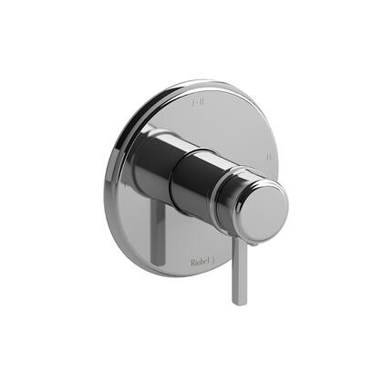 Momenti TMMRD23LBK 2-Way Thermostatic/Pressure Balance Coaxial Valve Trim with Lever Handles  in