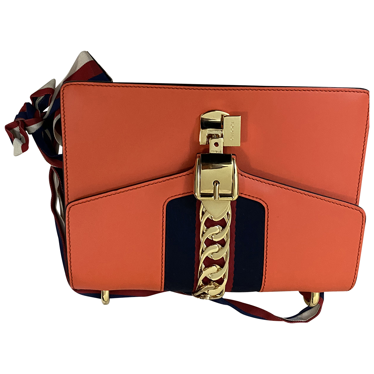 Gucci Sylvie Orange Leather handbag for Women N